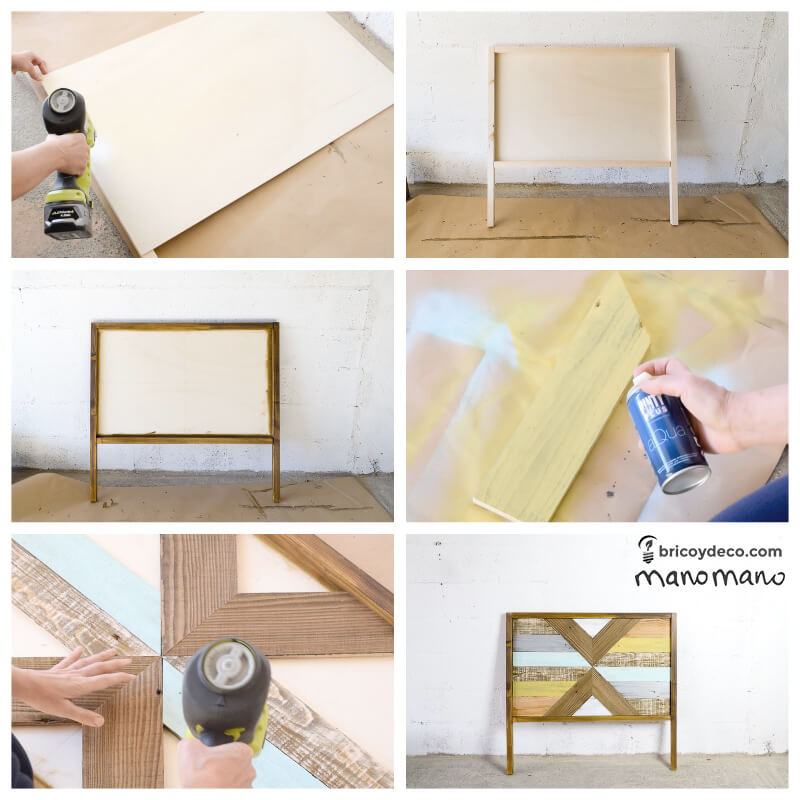 pallet bed wood frame making a diy the handy mano manomano furniture