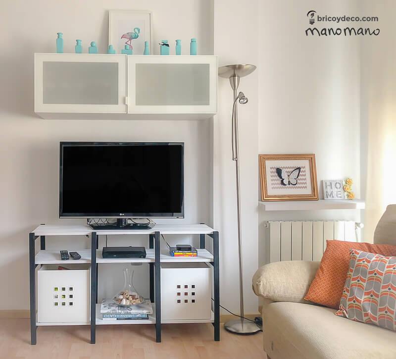 manomano the handy mano pallet tv stand DIY finished living room