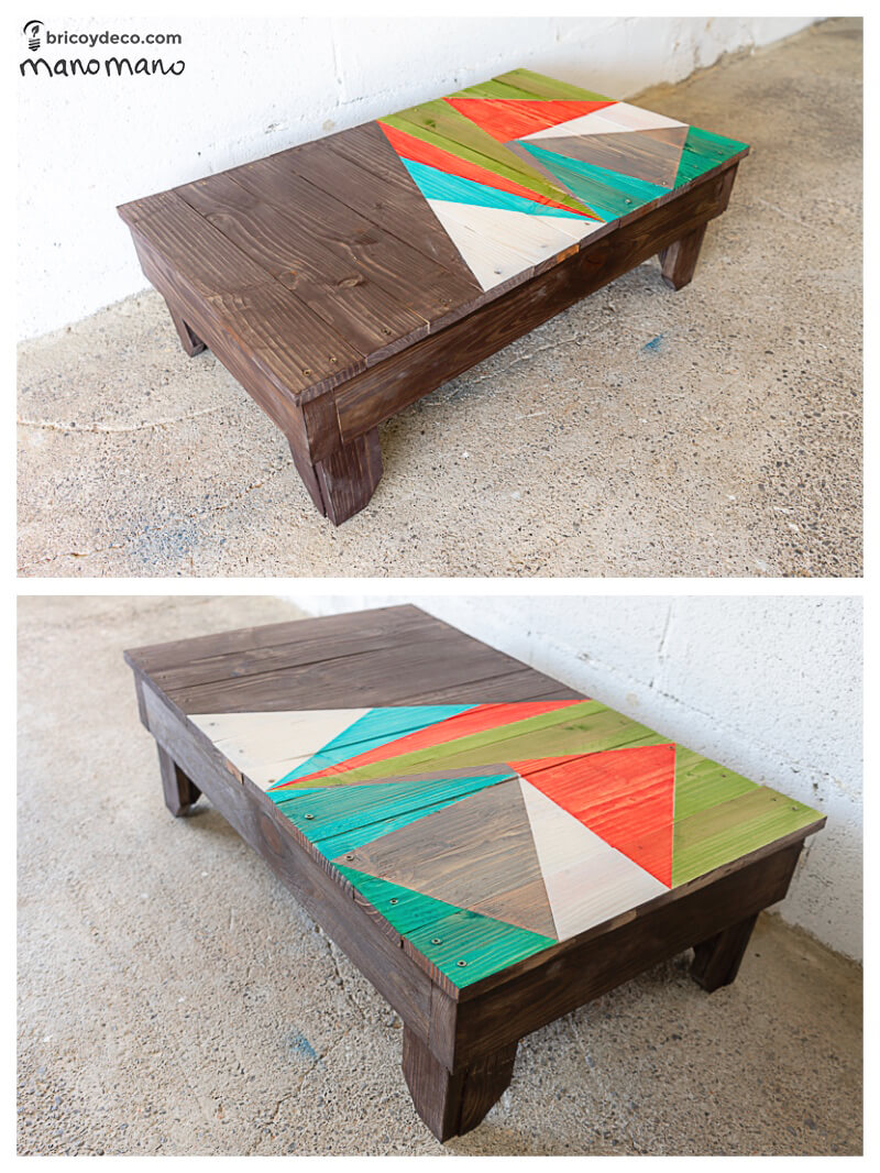 thehandymano mano mano DIY Pallet Garden Table finished product